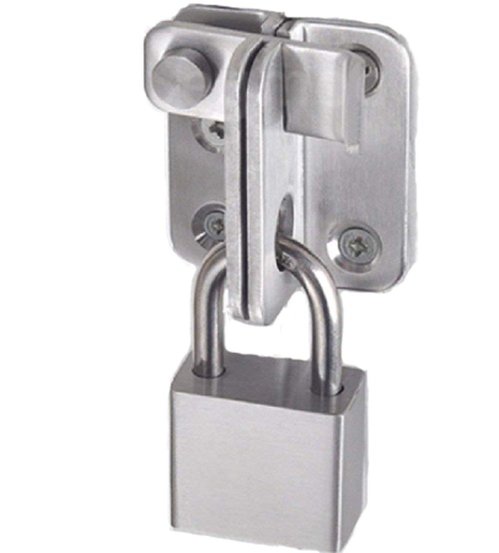 Stainless Steel Plug Safety Door Lock Door Buckle Bolt Lock Iron gate Wooden Door Bolt Latch Buckle Padlock