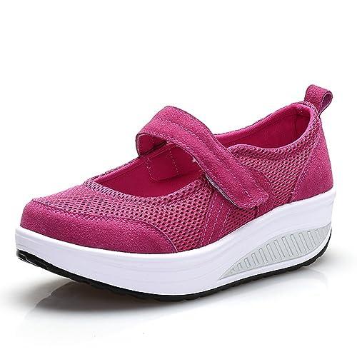 Zapatos De Velcro De Las Mujeres, Zapatos De Mamá De Mediana Edad, Zapatillas De Deporte Ocasionales De La Moda, Zapatos Antideslizantes Crecientes De La ...