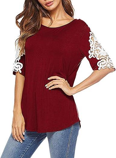 Camisetas para el Verano Mujer Blusa Casual Manga Corta O ...