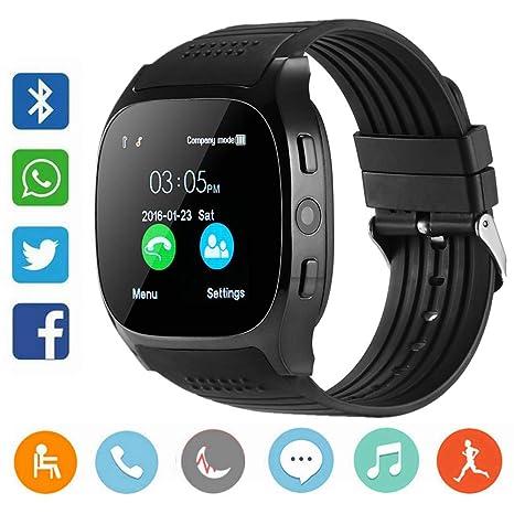 CanMixs Smartwatch CF02 es compatible con la tarjeta SIM Reloj de pulsera TF con cámara Podómetro