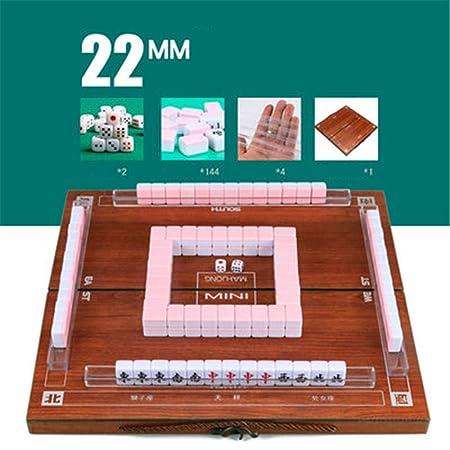 LONGSUODI Mini Mahjong Cajas De Madera Plegables Portátiles ...