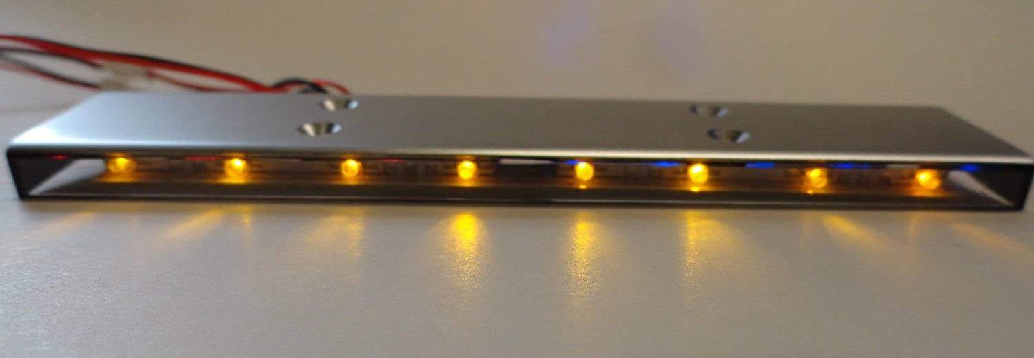 Apex RC Products 1//10 16 LED Police Light Bar W//9 Selectable Modes #9015RB