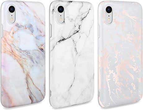 AROYI 3 x Funda para iPhone XR Mármol Silicone Suave Carcasa, Slim Soft Gel TPU Case Protección Antigolpes Cover para iPhone XR (Blanco): Amazon.es: Electrónica