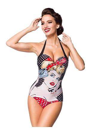 mehr Fotos a9f73 79dbf Belsira Damen Vintage Badeanzug: Amazon.de: Bekleidung