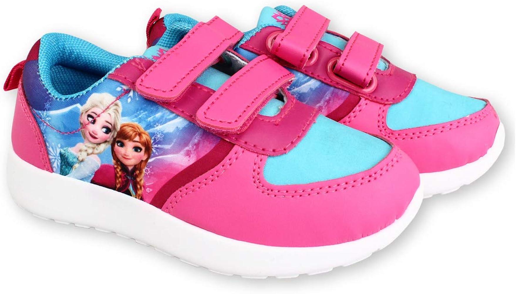 Frozen - Zapatillas de Baloncesto para niña, (Rosa/Azul), 26 EU ...
