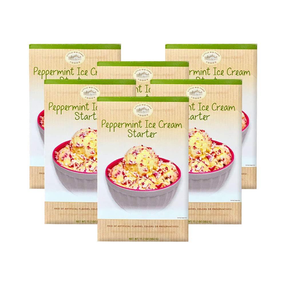 Little Big Farm Foods Peppermint Ice Cream Starter Mix, 17.7 oz (6 pack) by Little Big Farm Foods