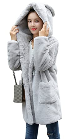 2ab47064336ca ACE SHOCK Faux Fur Coat Women Hooded