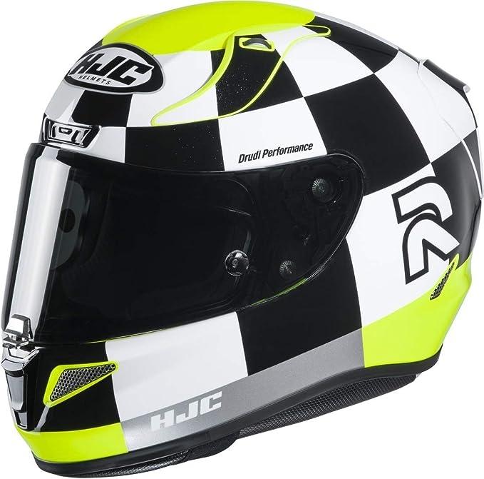 Hjc Helmets Herren Nc Motorrad Helm Schwarz Weiss Gelb L Auto