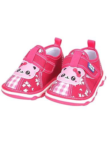 Mee Mee First Walk Baby Shoes with Chu Chu Sound (22 EU, Dark Pink)