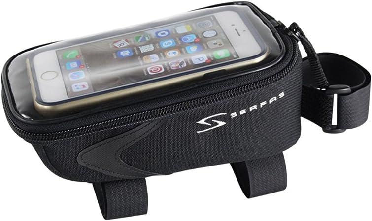 Serfas teléfono Celular Bicicleta Bolsa de Tubo Superior (Negro): Amazon.es: Deportes y aire libre