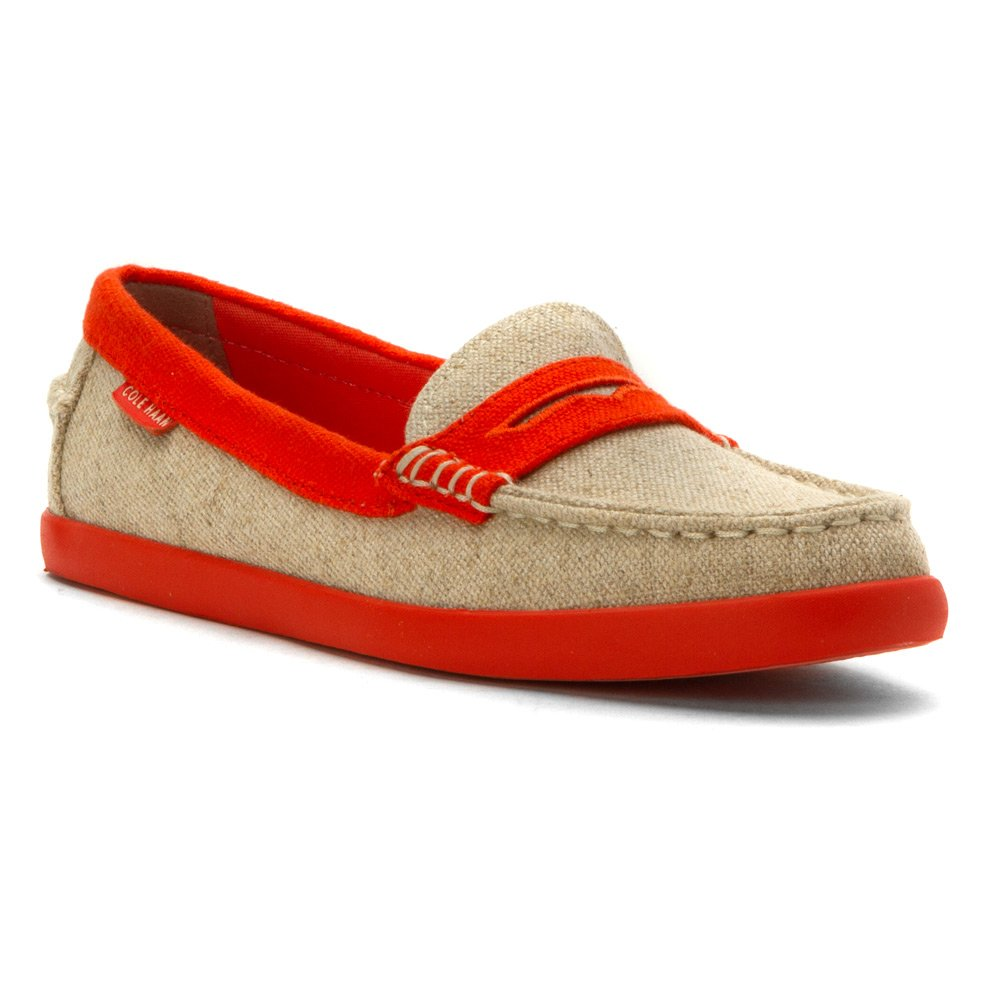 Cole Haan Women's Pinch Weekender Penny Loafer, Natural/Citrus, 7.5 B US