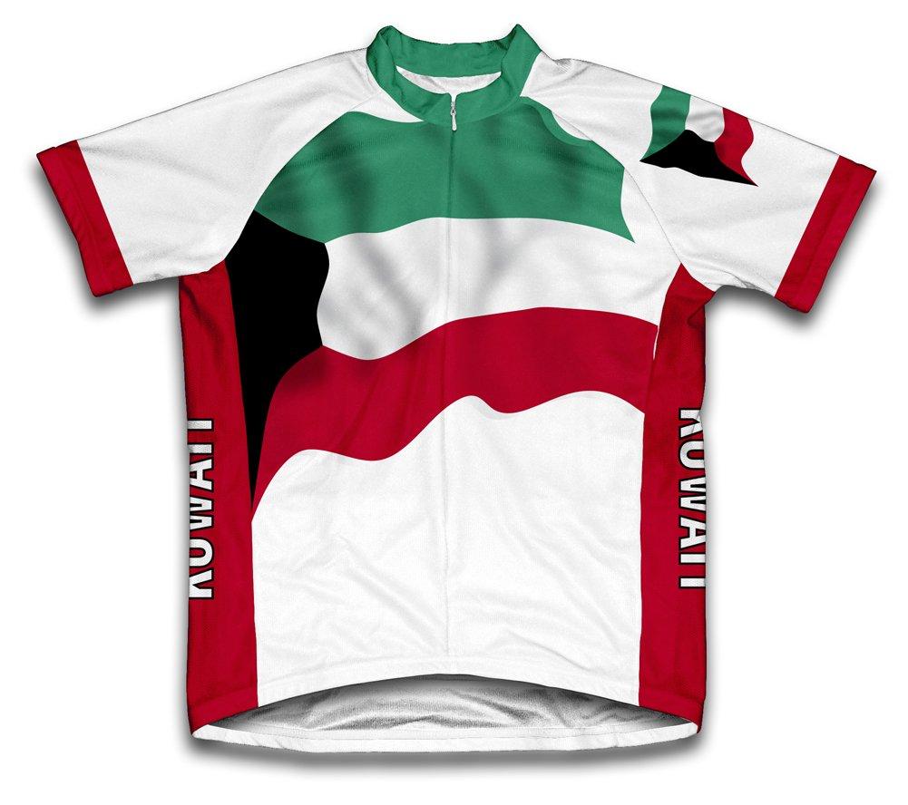 Kuwait Flag Radsport Trikot mit kurzer Ärmel für Menner