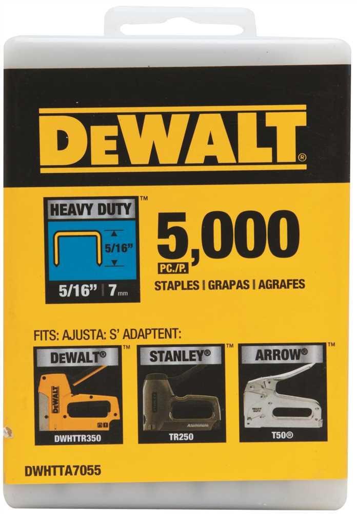 Dewalt DWHTTA7055 4 Pack 5/16in. Heavy Duty Staple 5,000/Box