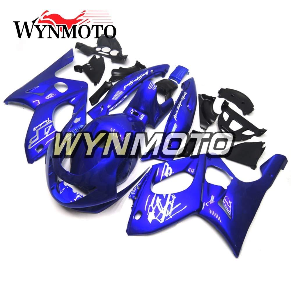 WYNMOTO ABS インジェクション新しい完全なオートバイフェア外装パーツセット適応モデルヤマハ YZF600R Thundercat 97-07 光沢ブルーハルボディ   B075S6T5CG