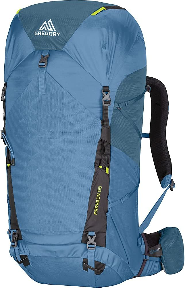 Gregory Mountain Products Paragon 68 Liter Men's Lightweight Multi Day Backpack | Raincover, Hydration Sleeve and Day Pack, Lightweight Construction | Lightweight Comfort on the Trail