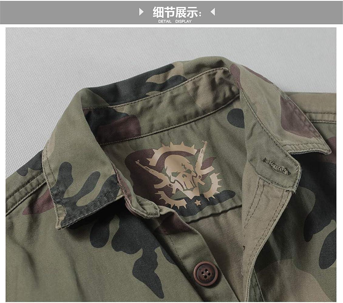 BaronHong Camisa Militar de Camuflaje de Manga Larga para Hombre (h, XL): Amazon.es: Ropa y accesorios