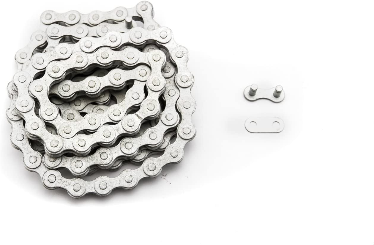 KMC S1 RB Rustbuster Bike Chain//Single Speed 1//2x1//8 112 Links Silver