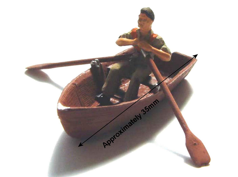 Modelos de Langley remando en bote + remo figura OO escalan pintado F137p: Amazon.es: Juguetes y juegos