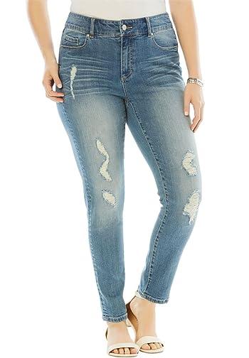 Women's Plus Size Distressed Jean