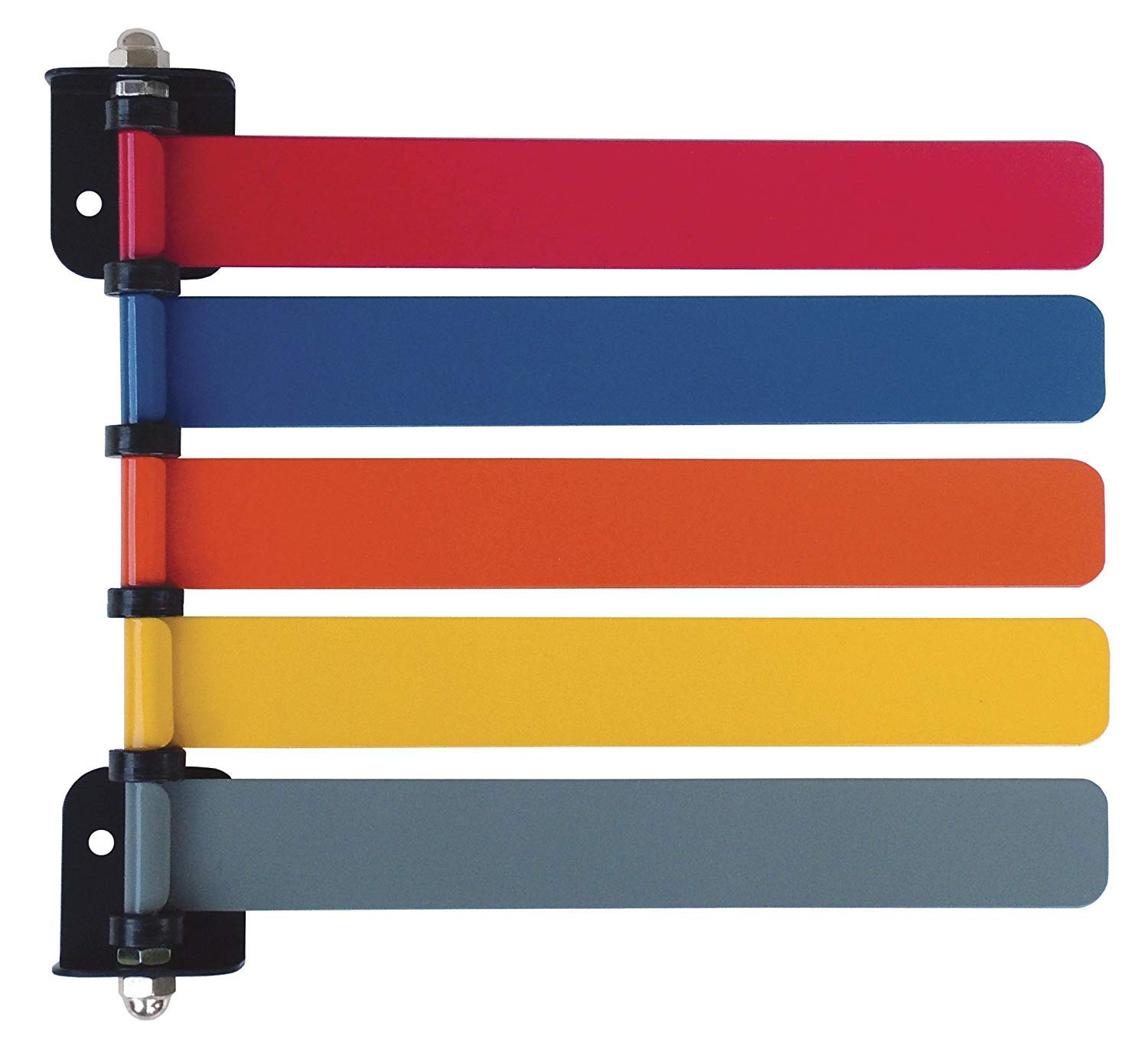 Omnimed Room ID Flag System, Standard 5 Color Set (Quickly & Clearly Alert Staff to Room Availability)