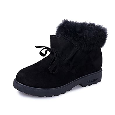 Amazon.com | Feilongzaitianba Snow Boots Women Winter Boots Warm Casual Wedges Shoes Fur Platform Shoes Woman Botas Ankle Boots Women | Boots