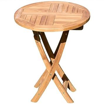ASS Teak Klapptisch Holztisch Gartentisch Garten Tisch Rund 60cm JAV Coamo  Holz Von