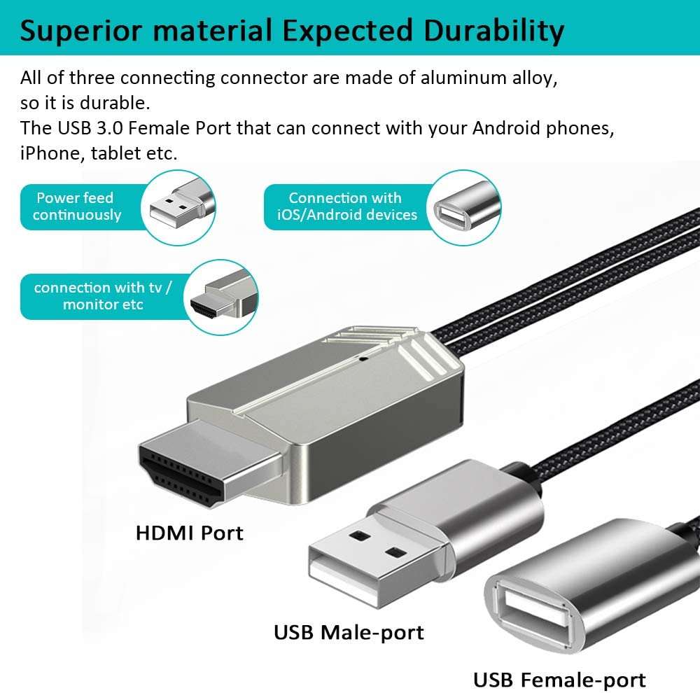 Amazon.com: DIWUER - Cable adaptador AV digital compatible ...