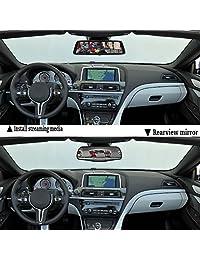 """10"""" Dash Cam de coche DVR Stream Media Espejo de doble lente visualización táctil completa hdr Kit de cámara de copia de seguridad de marcha, delantera y cámara de visión trasera Sony sensor1080p hdr visión nocturna vídeo de espejo retrovisor trasera"""