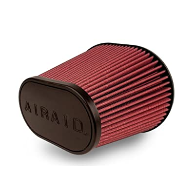 Airaid 721-472 Universal Clamp-On Air Filter: Oval Tapered; 6 Inch (152 mm) Flange ID; 9 Inch (229 mm) Height; 10.75 x 7.75 Inch (273 mm x 197 mm) Base; 7.25 x 4.25 Inch (184 mm x108 mm) Top: Automotive