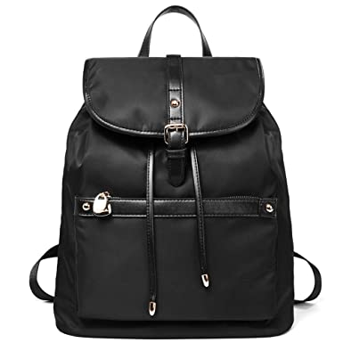 9a942ec846 Amazon.com  BOSTANTEN Backpack Purse Fashion Nylon Backpacks Travel Water  Resistant Lightweight School Bag for Women  Clothing