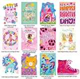 Peaceable Kingdom Birthday Card Set for Girls - Box of 12 Cards and Envelopes offers