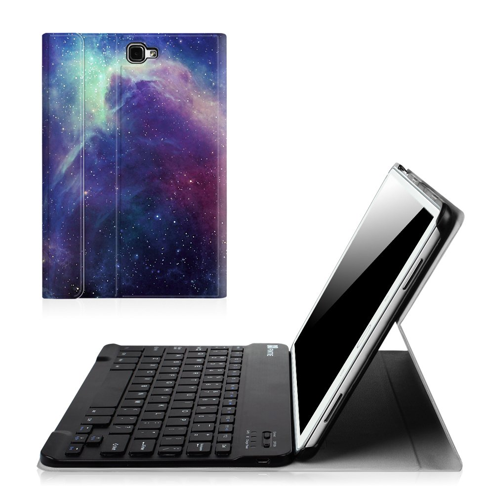 Fintie Samsung Galaxy Tab A 10.1 (NO S Pen Version) Keyboard Case, Slim Shell Light Weight Stand Cover with Magnetically Detachable Wireless Bluetooth Keyboard for Tab A 10.1 Inch Tablet, Black CEN0924CA
