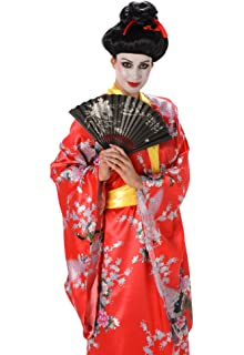 b486f1c2ab7 Geisha Ladies Fancy Dress Oriental Japanese National Kimono Womens Adult  Costume (Large UK 16-