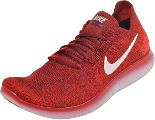 Nike Free RN Flyknit 2017, Zapatillas de Trail Running para Hombre, Rojo (Team Red/Pure Platinum/University Red 600), 48.5 EU: Amazon.es: Zapatos y complementos