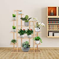 Flower Plant Stand Indoor Wooden Multilayer Plant Rack Outdoor Garden Balcony Decor