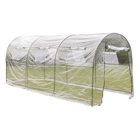 vidaXL Invernadero Portátil de PVC Transparente Caseta de Plantar Jardinería