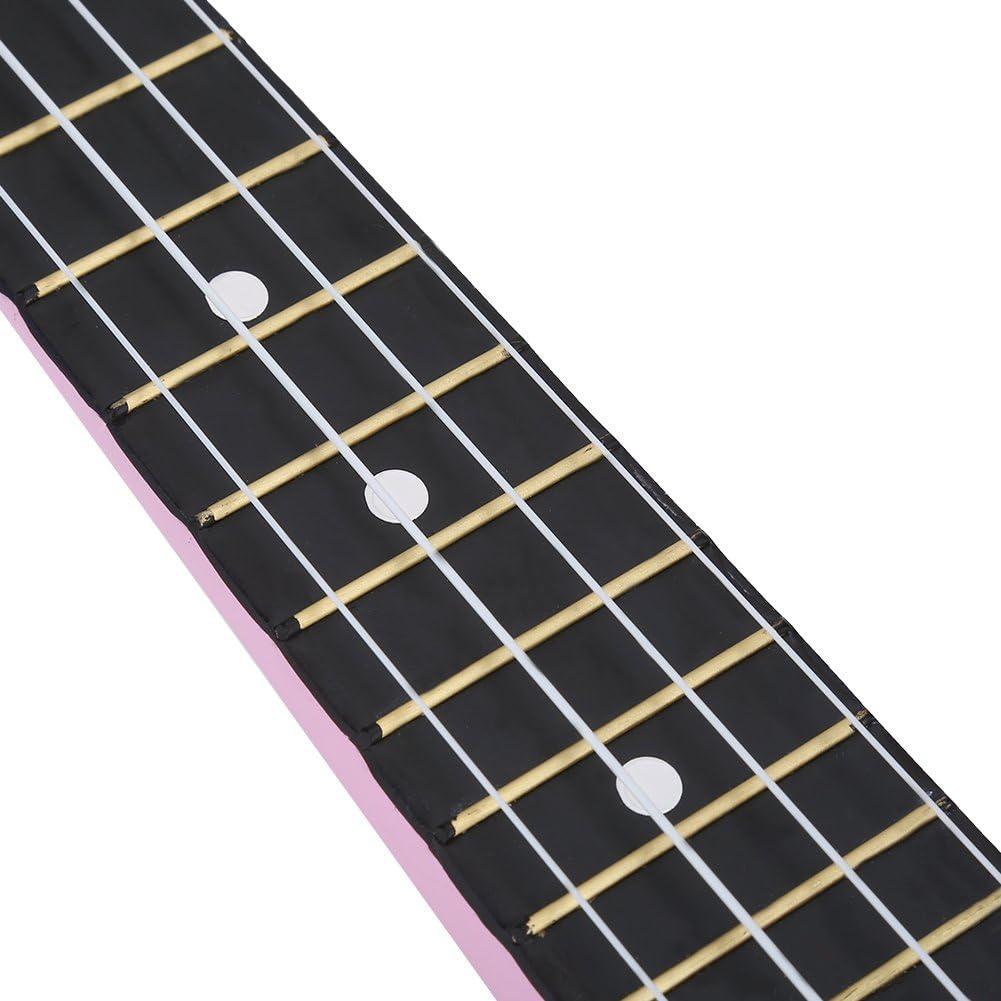 Ukulele 21inch Children Ukulele Kit with Tuner Strap String Storage Bag Musical Instrument Toy Pink