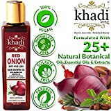 Khadi Global Red Onion Hair Growth Oil With Pure Argan, Jojoba, Rosemary, Black Seed Oil In Purest Form Very Effectively Control Hair Loss, Promotes Hair Growth 100% Natural Hair Food 200 Ml
