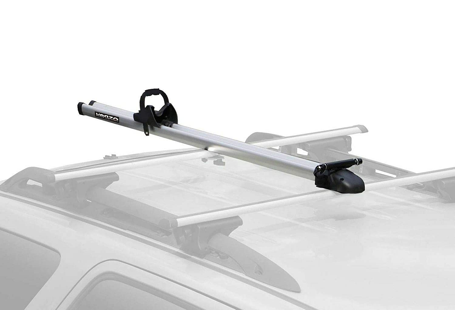 Venzo Clamp on or T Bolt Attached to Corss Bars 9 or 10mm QR Compatible Aluminum Car Roof Carrier Fork Mount Rack