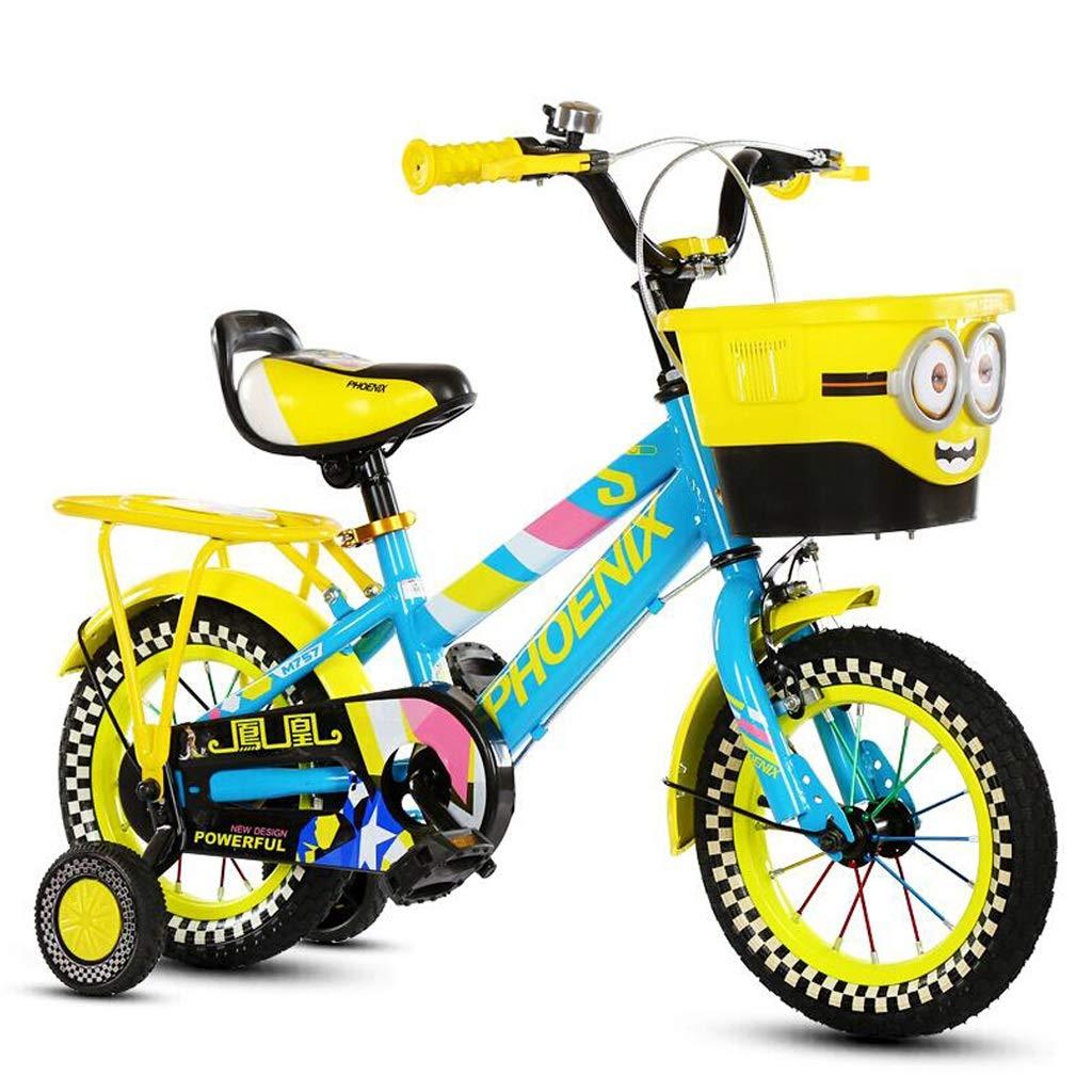 子供用自転車 ファッション子供用自転車 パーソナライズドマウンテンバイク 屋外用自転車 210歳の男の子と女の子屋外用自転車 (Color : Yellow, Size : 16 inches) 16 inches Yellow B07Q7QL5CC