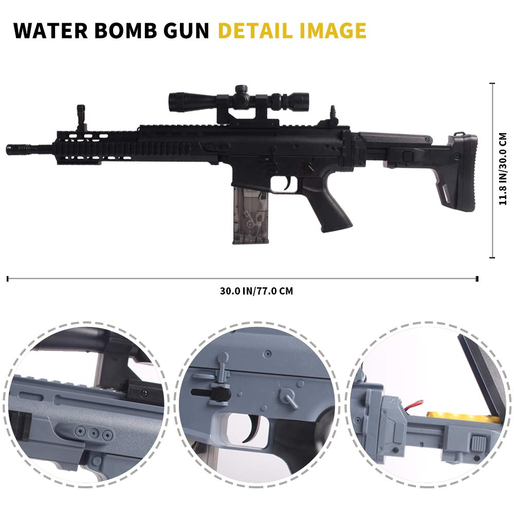Anstoy Rifle Gel Ball Blaster Water Gun, Electric Gel Ball Shooters with 7-8mm Ammo for Outdoor & Birthday Gift,Next Generation Toy Gun by Anstoy (Image #3)