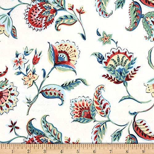 Michael Miller Kashmir Gardens Arabesque Fabric, Denim, Fabric By The Yard