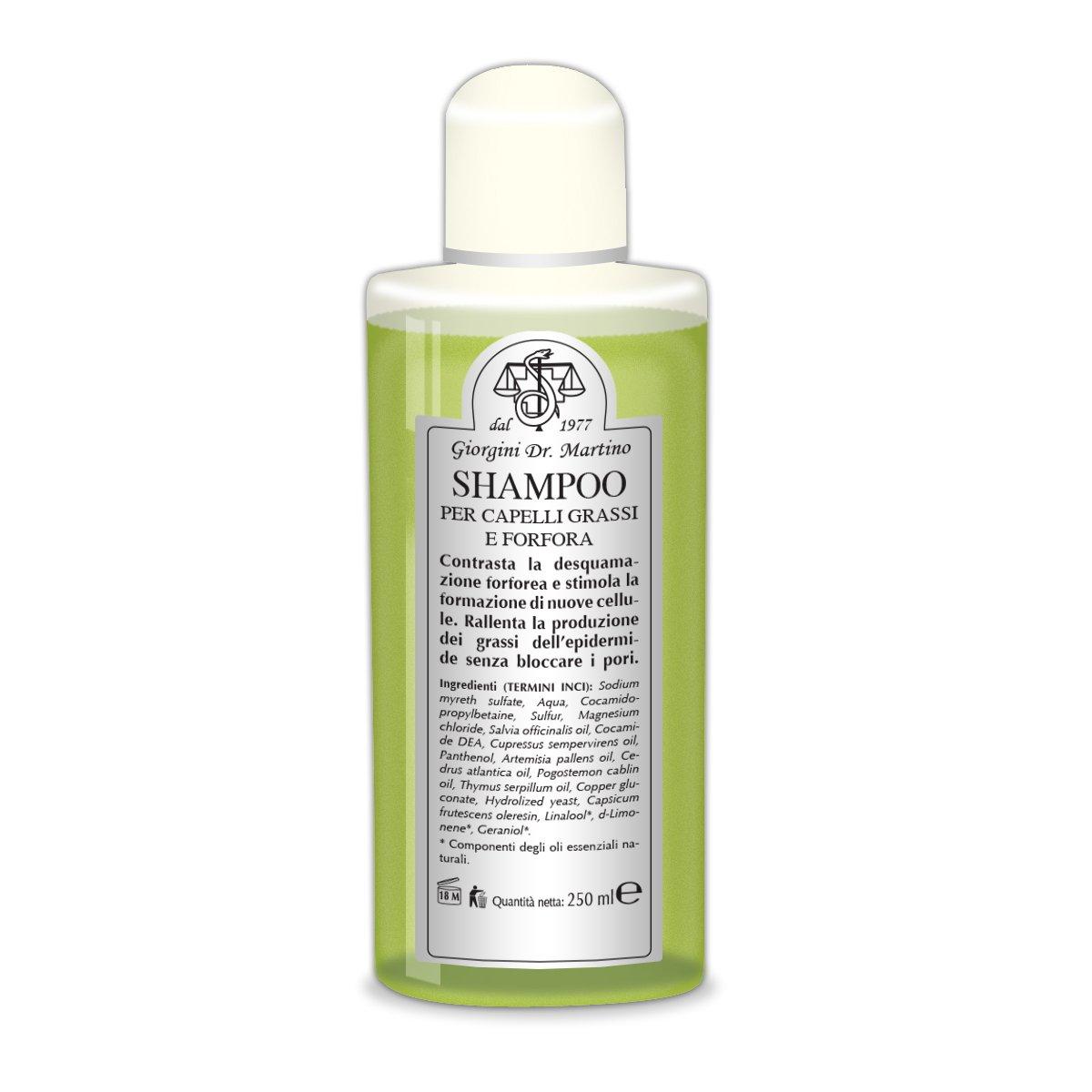 Dr. Giorgini Shampoo per Capelli Grassi e Forfora - 250 ml Vis Medicatrix Naturae SERHCOS0722