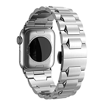 hoco. - Correa de Repuesto para Apple Watch Serie 4 3 2 1 (Acero Inoxidable)