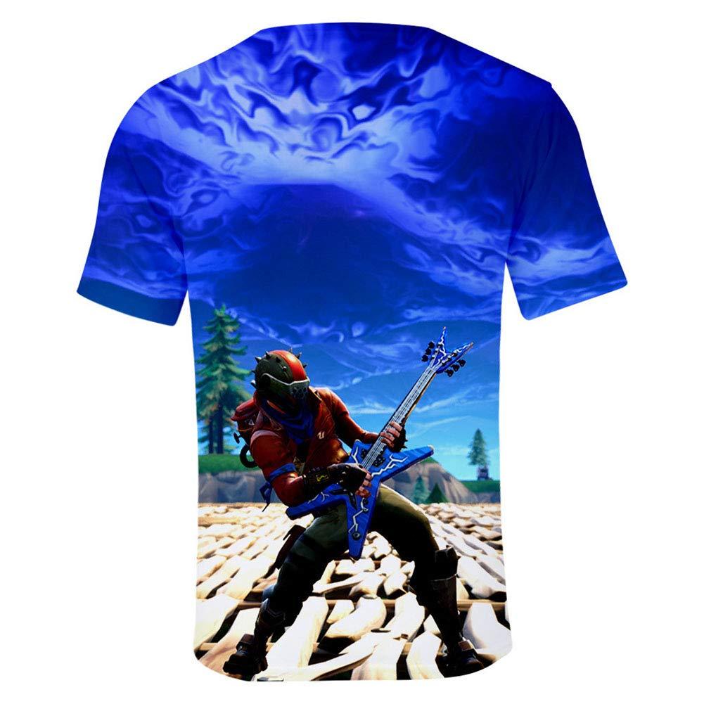 SJZV Unisex Patrón 3D Impreso Verano Casual Manga Corta Camisetas Camisetas
