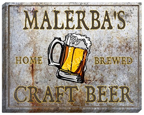 MALERBA'S Craft Beer Stretched Canvas Sign