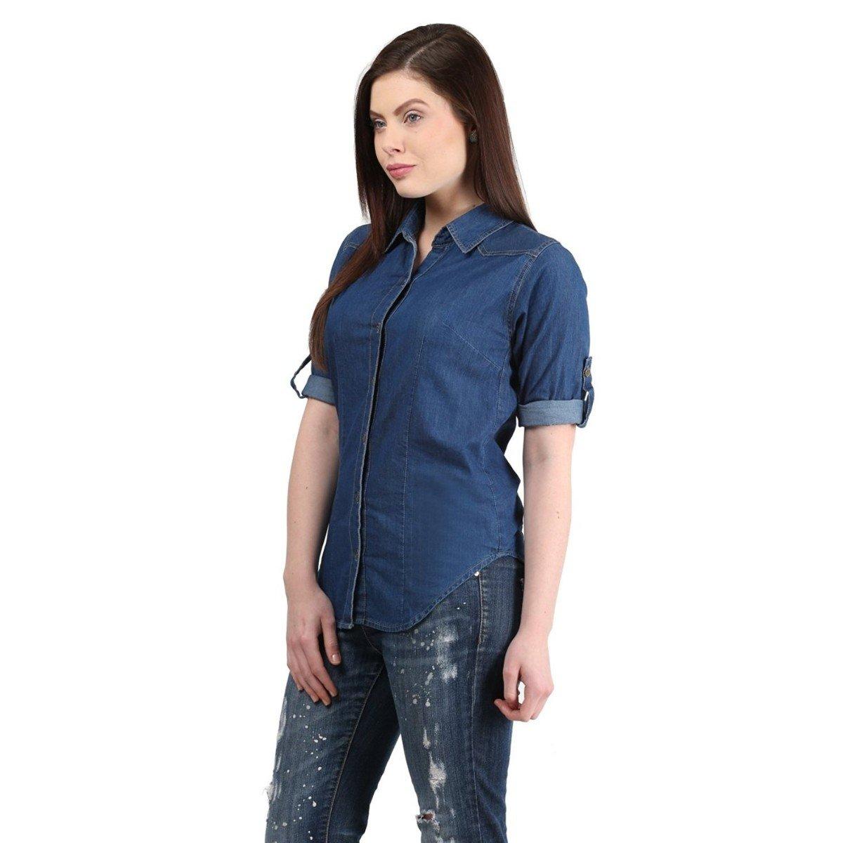 9c8c2ebb80 DIMPY GARMENTS BuyNewTrend Denim Shirt for Women Girls  Amazon.in  Clothing    Accessories