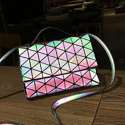 Aoligei Losange de géométrie mode pyramide paquet femelle H