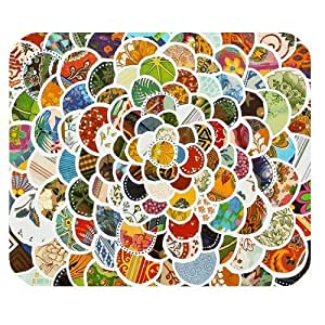 Generic Personalized Bohemian Colorful Scale Style Pattern for Rectangle Mouse Pad by icecream design
