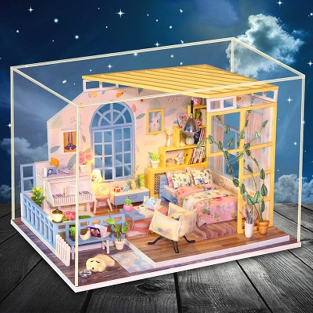 Houses ForgetMe Toy DIY 3D Dollhouse Paper Miniature